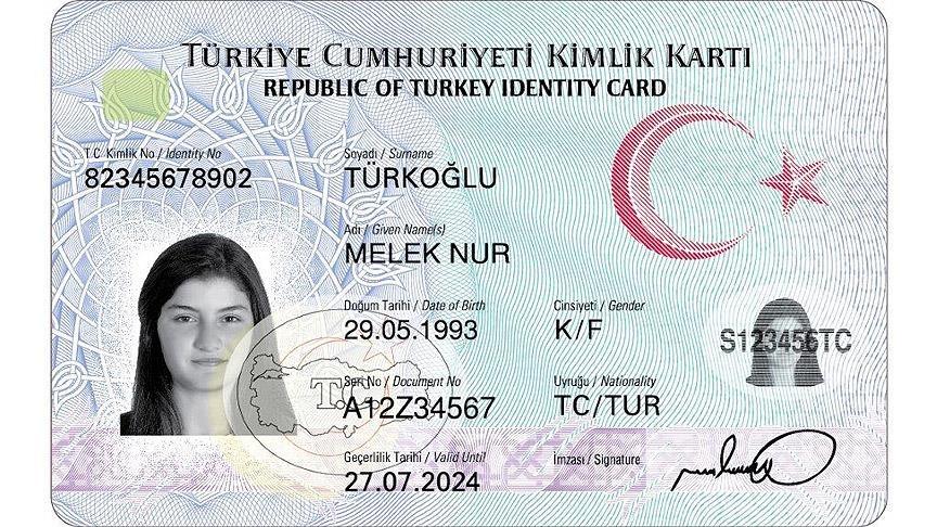 resmi kimlik kartı