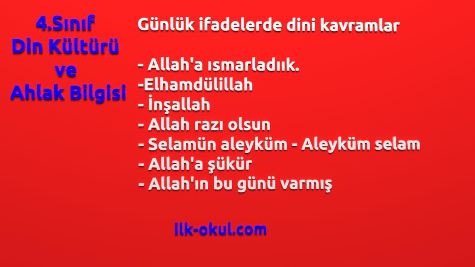Günlük konuşmalarda kullanılan dini ifadeler