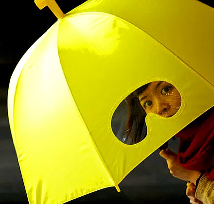 gözlüklü şemsiye